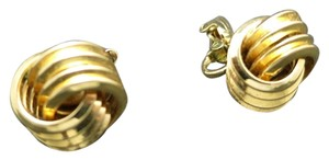 Trifari Trifari earrings Gold tone Knots Classic Clip on