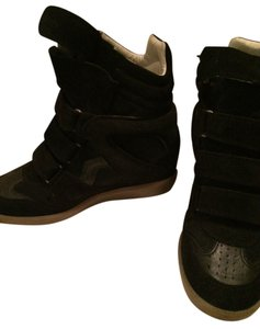 Isabel Marant Wedge Booties BLACK Wedges