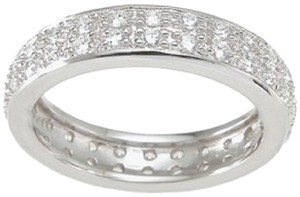 1.0 ct Pave Double Row Anniversary - Eternity Band * Size 5,6,7,8,9 * EXCLUSIVE NEW DESIGN *