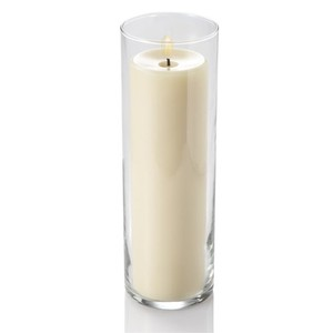 """Eastland Clear Glass Eastland(R) Pillar Candle Cylinders Vases 10.5"""" X 3.25"""" Set Of 12 Centerpiece"""