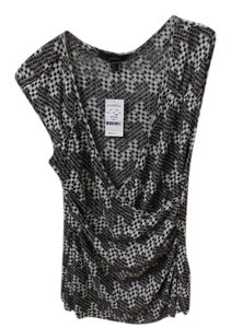 Express Top Gray Graphic