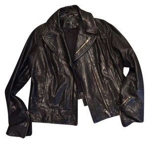 Andrew Marc Blac Leather Jacket