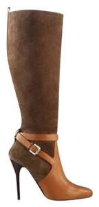 Ralph Lauren Collection Olive/Brown Suede and Leather Boots