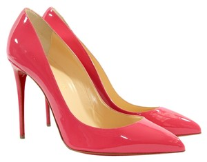 Christian Louboutin Heels Pigalle Follies 100 Patent Leather Pink Pumps
