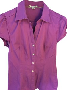Banana Republic Professional Button Down Shirt Violet