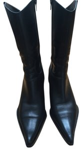 Steven by Steve Madden Leather Black Boots