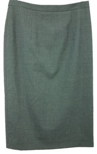 Michael Kors Micheal Pencil Wool Skirt DARK GRAY