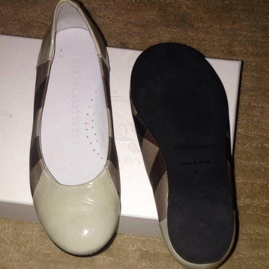 Burberry Toddler Kid Effie Check Ballet Ballet Size10 Toddlers Beige Flats