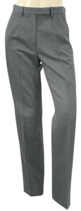 Trussardi Leg Tuxedo Dress Straight Pants Grey