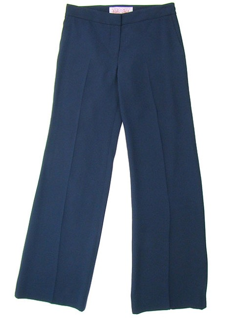 Tuleh Flare Flowy Classic Silk Straight Pants Blue
