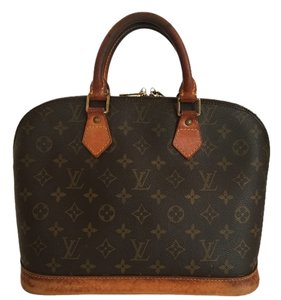 Louis Vuitton Alma Alma Monogram Satchel in Brown