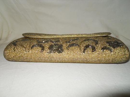 Fuji Hand Made Gold,Pewter Clutch