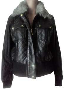 Baby Phat BLACK Faux Leather Jacket