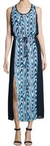 Navy Maxi Dress by Michael Kors Sleeveless Maxi Side Slit