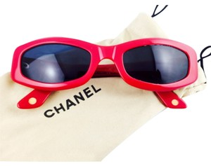 Chanel Chanel Vintage Red And Gold CC Sunglasses