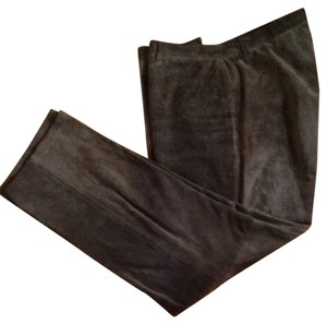 Nine West Leather Straight Pants Chocolate Brown Suede