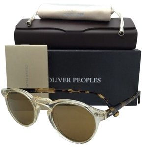 Oliver Peoples New OLIVER PEOPLES Sunglasses GREGORY PECK OV 5217-S 1485/W4 Buff /Honey w/ Gold