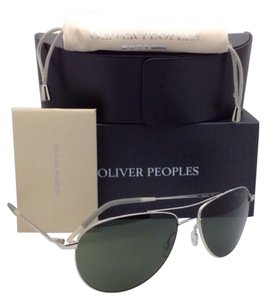 Oliver Peoples OLIVER PEOPLES Sunglasses BENEDICT OV 1002-S 5036/R5 Silver w/ Grey-Green lenses