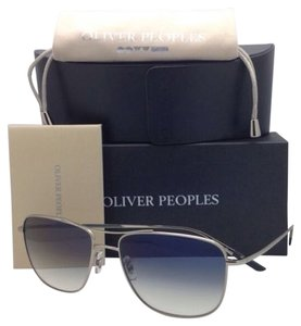 Oliver Peoples New Photochromic OLIVER PEOPLES Sunglasses SHAEFER OV 1146 5036/Q6 Silver w/Blue Lenses