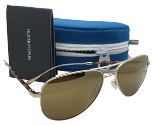 Oliver Peoples New OLIVER PEOPLES WEST Polarized Sunglasses PIEDRA OV 1148-S 5145/Z5 Gold w/ Mirror