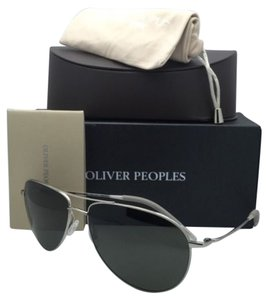 Oliver Peoples Polarized OLIVER PEOPLES Sunglasses BENEDICT 1002-S 5036K8 62-16 Silver w/ Grey Lenses
