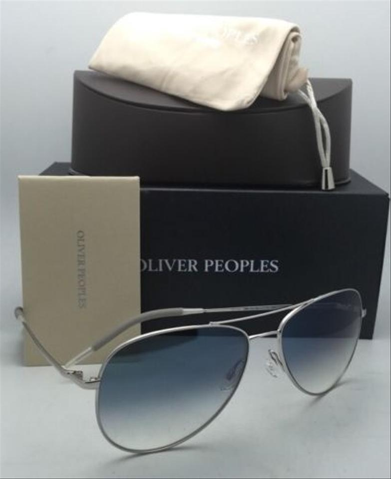 95fb57e027 Oliver Peoples Kannon Ov 1191-s 5036 3f Silver W  Blue Photochromic ...