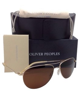 Oliver Peoples Polarized OLIVER PEOPLES Sunglasses BENEDICT OV 1002 5035/N9 Gold w/Brown lenses
