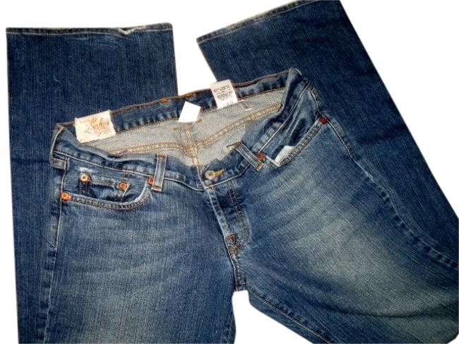 Item - Denim Distressed Limited Edition Midnight Maggie Long A Juniors 10/12) Flare Leg Jeans Size 30 (6, M)