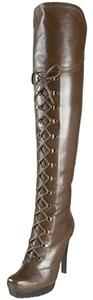 Stuart Weitzman Over The Knee Sexy Combat Green/Grey Boots