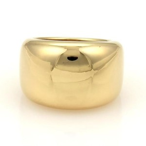 Cartier Cartier Nouvelle Vague 18k Ygold Wide Dome Ring Eu 45-us Wcert
