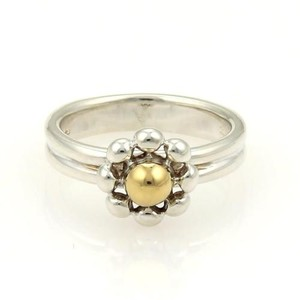 Tiffany & Co. Tiffany Co. Paloma Picasso Silver 18k Gold Jolie Bead Floral Ring