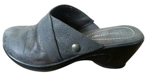 Bare Traps Charcoal Mules