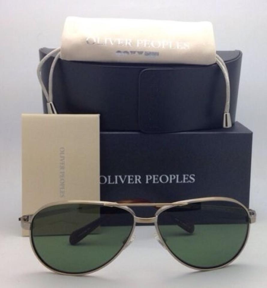 1582bc29d2eb Oliver Peoples Copter Ov 1120-st 5039 P1 Ag Gold W  Green Polarized ...
