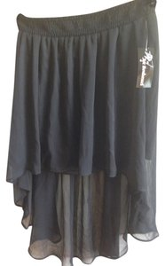 Joe Benbasset Chiffon Chic Hi Lo Summer Comfortable Skirt Black