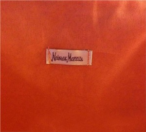 Neiman Marcus Casual Bright Exclusive Tote in Beige with orange accent
