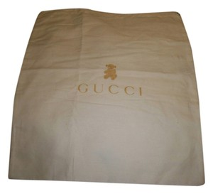 Gucci Ivory with Gold Bear Logo Travel Bag