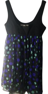 Diane von Furstenberg short dress Black Polka Dot on Tradesy