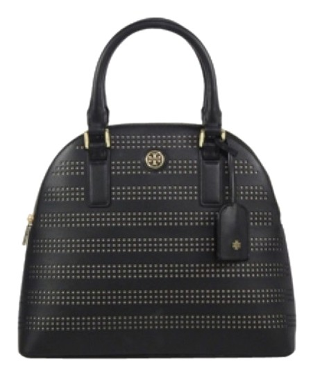Preload https://img-static.tradesy.com/item/10898671/tory-burch-robinson-perforated-dome-black-leather-satchel-0-1-540-540.jpg