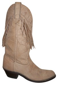 Laredo Leather Vintage Fringed Western tan Boots