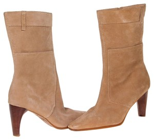 Nicole Miller Leather Tan Boots