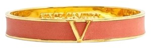 Vince Camuto Leather Color Bangle Bracelet Orange Suede Gold C601005