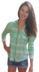 Daytrip Button Down Shirt Green