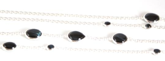 """Ippolita IPPOLITA Silver Scultura Blue Tigers Eye Station Long Chain Necklace 52"""" 925"""
