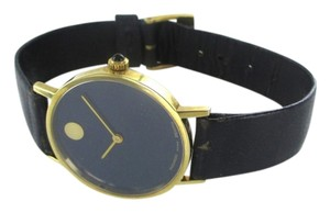 Movado AUTHENTIC MOVADO 14KT YELLOW GOLD CASE WITH BLUE DIAL