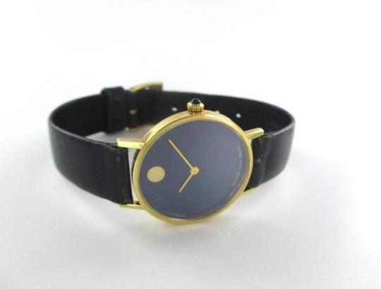 Movado AUTHENTIC MOVADO 14KT YELLOW GOLD CASE WITH BLUE DIAL Image 3