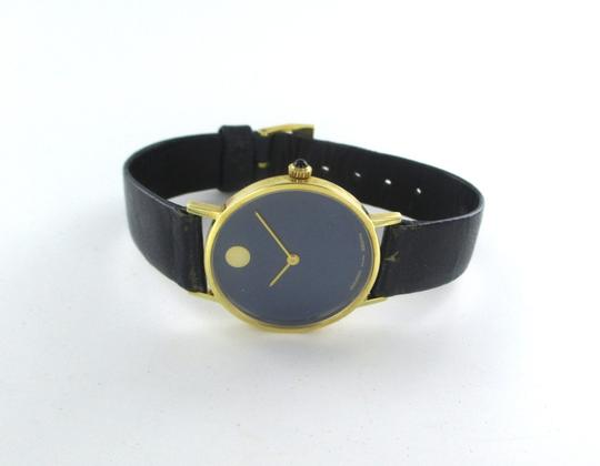 Movado AUTHENTIC MOVADO 14KT YELLOW GOLD CASE WITH BLUE DIAL Image 4