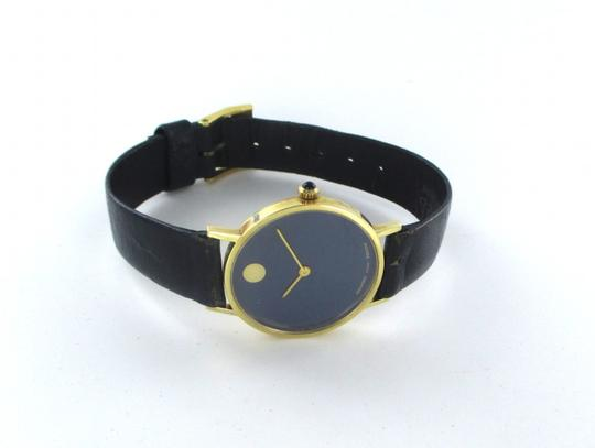 Movado AUTHENTIC MOVADO 14KT YELLOW GOLD CASE WITH BLUE DIAL Image 5