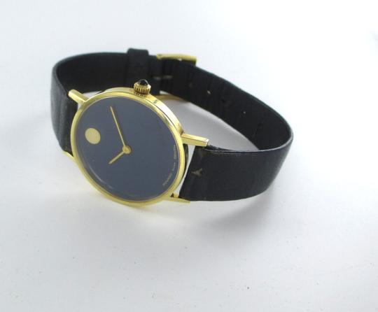 Movado AUTHENTIC MOVADO 14KT YELLOW GOLD CASE WITH BLUE DIAL Image 6