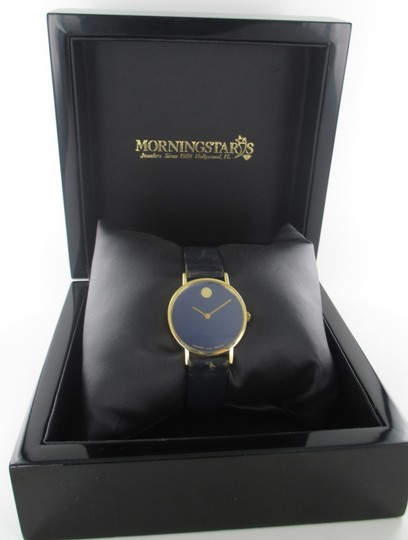 Movado AUTHENTIC MOVADO 14KT YELLOW GOLD CASE WITH BLUE DIAL Image 7