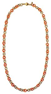 Juicy Couture Enamel And Rope Chain Strand Necklace Gold & Orange YJRU6690